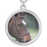 Arab Horse with White on Face Silver Necklace