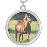 Chestnut Horse Standing Necklace