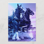 Clydesdale Horses Invitation