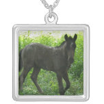 Cute Foal Sterling Silver Necklace