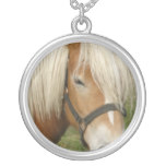 Cute Palomino Pony Sterling Silver Necklace