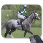 Dappled Grey Race Horse Mouse Pad