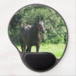 Dark Bay Horse Gel Mouse Pad