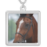 Equestrian Horse Show Sterling Silver Necklace