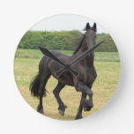 Friesian Horse Clock