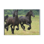 Galloping Friesian Horses Cover For iPad Mini