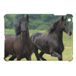Galloping Friesian Horses iPad Mini Case