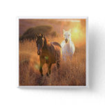 Galloping Wild Horses Square Pin