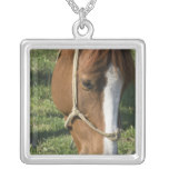 Grazing Draft Horse Sterling Silver Necklace