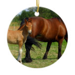 Grazing Horse Family Ornament