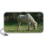 Grazing White Horse Portable Speakers