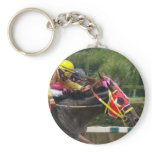 Horse Race Finish Keychain