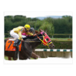 Horse Race Finish Postcard