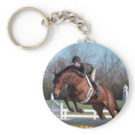 Horses and Show Jumping Keychain