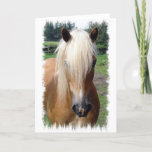 Palomino Quarter Horse Greeting Card