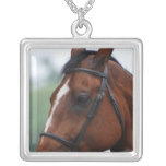 Quarter Horse Profile Sterling Silver Necklace