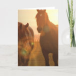 Sunset Horses  Greeting Card