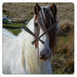 Sweet Connemera Pony Square Wall Clock