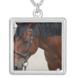 Tacked Horse Necklace