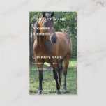 Thoroughbred Horse Business Card