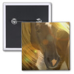 Wild Horses Photo Square Pin